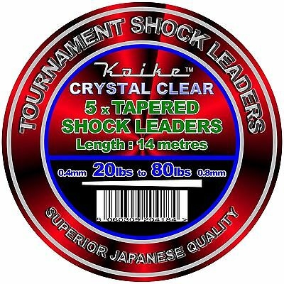 Koike Tapered Shock Leader Crystal Clear